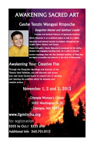 Awakening Sacred Art Flyer